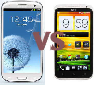 Samsung Galaxy S III vs HTC One X Comparison