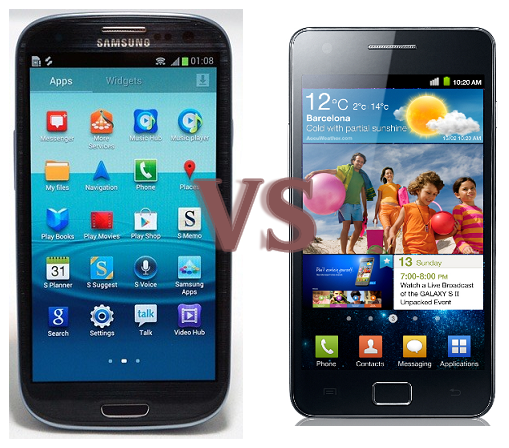 Samsung Galaxy S III vs Samsung Galaxy S II Comparison