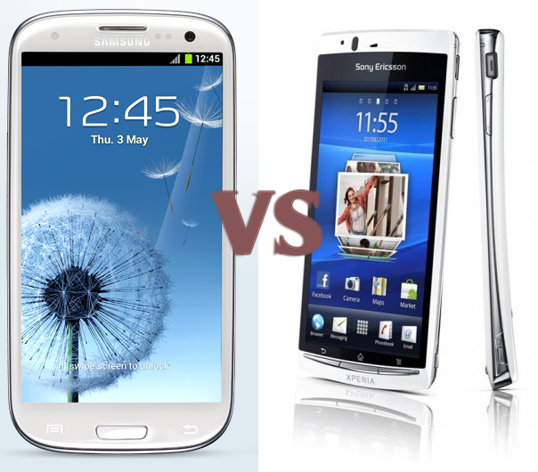 Samsung Galaxy S III vs Sony Ericsson Xperia Arc S Comparison