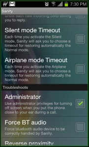 Sanity Modes AirPlane Mode