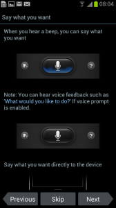Samsung Galaxy S III S Voice Tips