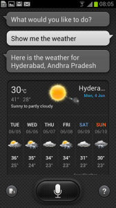 Samsung Galaxy S III S Voice Weather