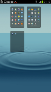Samsung Galaxy S III app pages