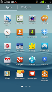 Samsung Galaxy S III apps