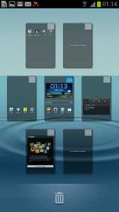 Samsung Galaxy S III home screens