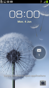 Samsung Galaxy S III lock screen app opening