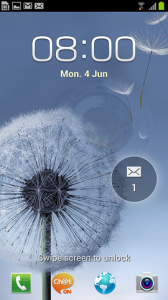 Samsung Galaxy S III lock screen unlocking