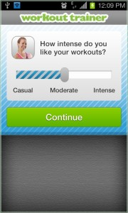 Workout Trainer Android app
