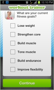 Workout Trainer fitness goal
