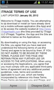 iTriage Agreement