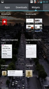 LG Optimus 4X HD Interface Widgets