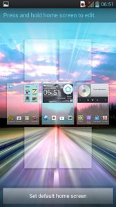 LG Optimus 4X HD Interface Home Screens