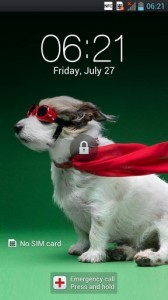 LG Optimus 4X HD Interface Lock Screen