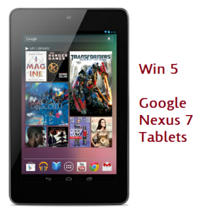 Win Google Nexus 7 Tablets