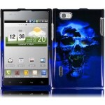 Blue Skull Cover Case for LG Optimus Vu VS950