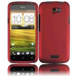 Red Hard Case Cover for AT&T HTC One X