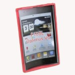 Red Soft TPU Silicone Gel back case cover for LG F100L Optimus Vu