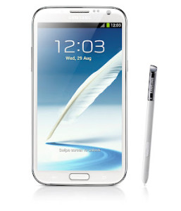 Samsung Galaxy Note 2 front
