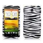 ZEBRA Hard Plastic Protector Case Cover For HTC ONE X S720E