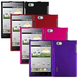 iFase Brand LG Optimus Vu VS950 Combo Pack of Black, Red, Pink, Purple Protective Cases