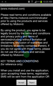 M Indicator app Agreement