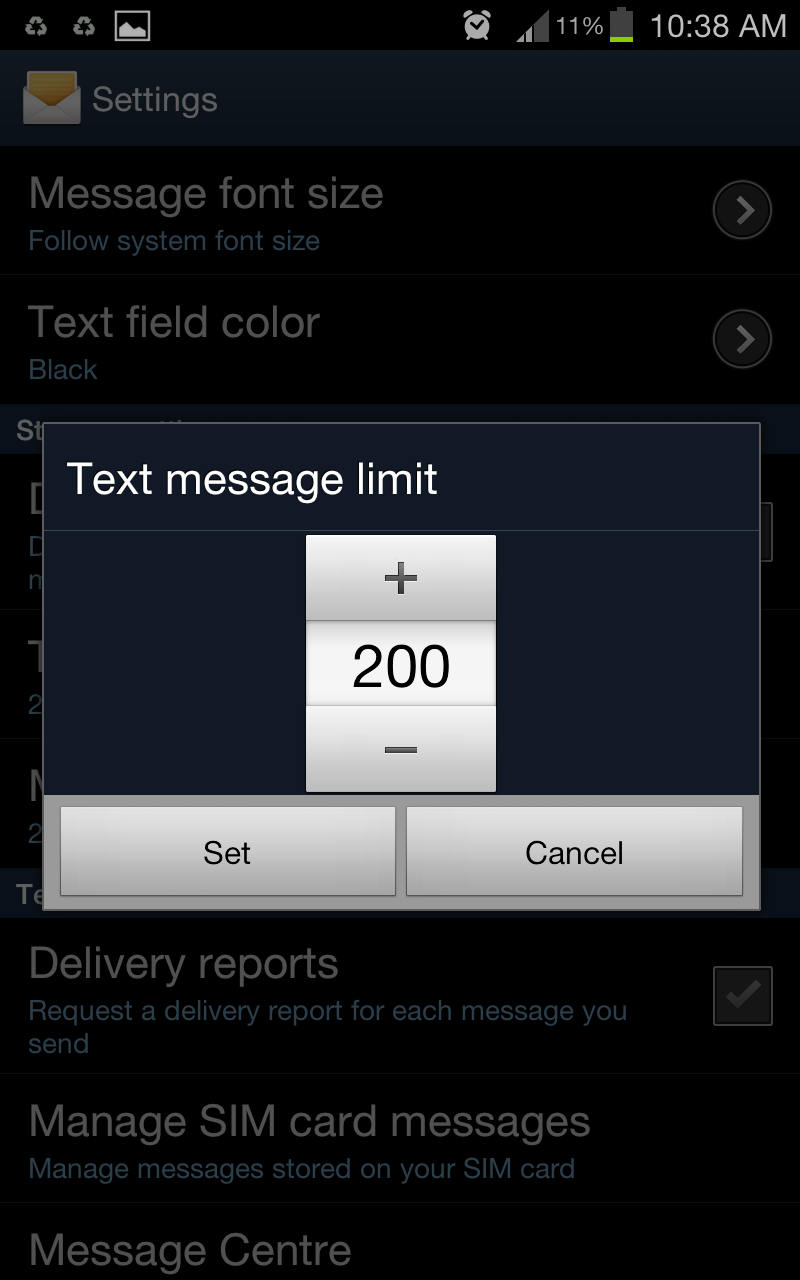 How to delete text messages on android phone