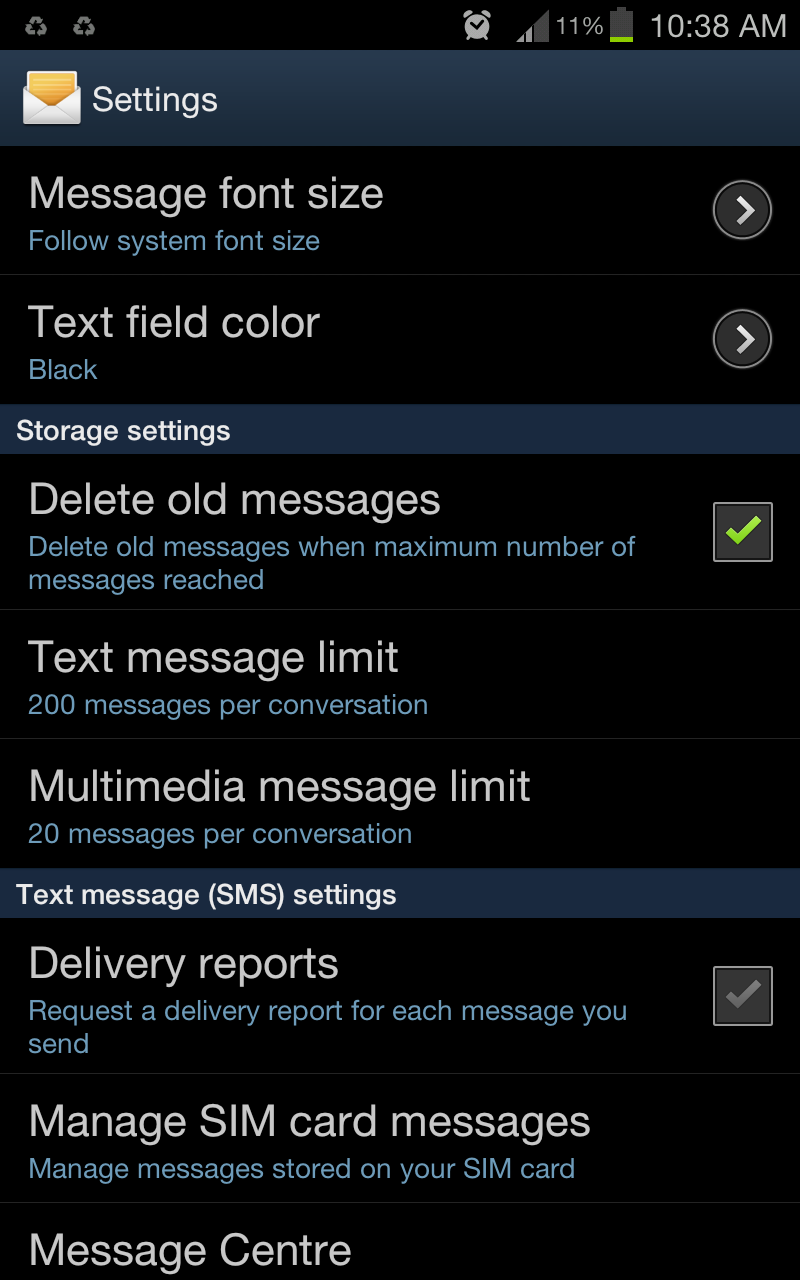 How to Set SMS Storage Limit & Auto Delete Old SMS on Android ...