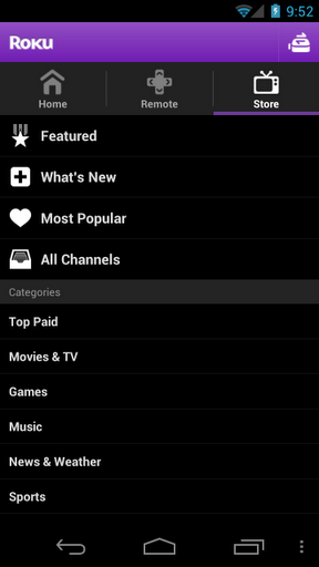 how to connect to roku via android