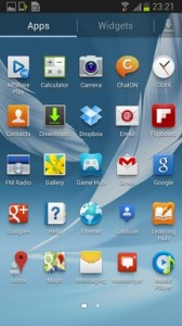 Galaxy Note II App Drawer