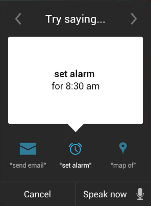 Google Voice Set Alarm