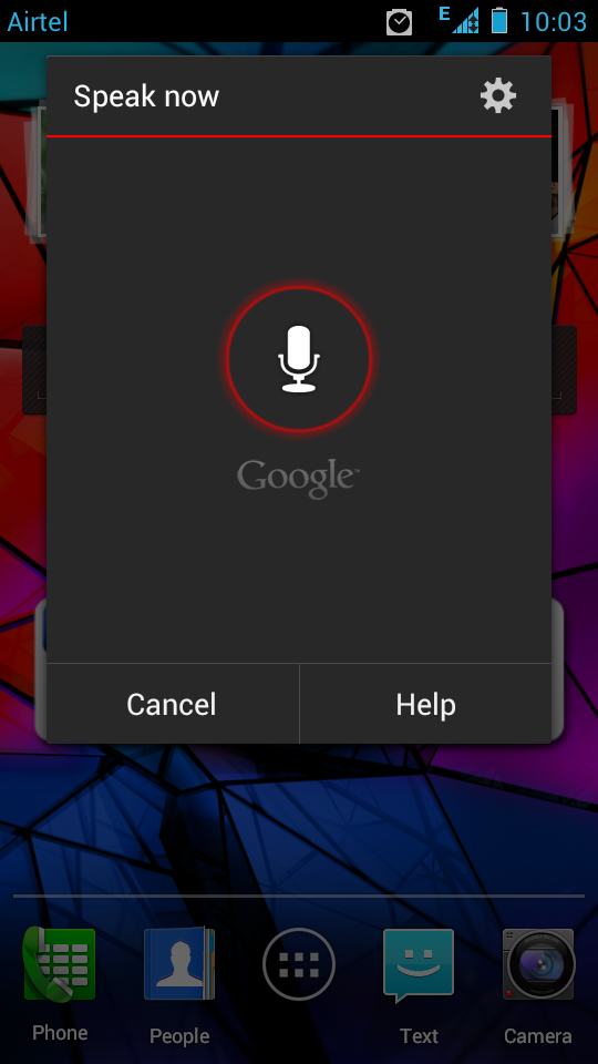 Google Voice Input for Android