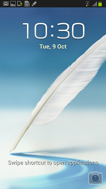 Samsung Galaxy Note II Lock Screen Shortcut