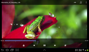 best 3rd party video player MX player for Andorid