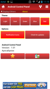 Android Control Panel About