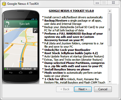Google Nexus 4 Toolkit