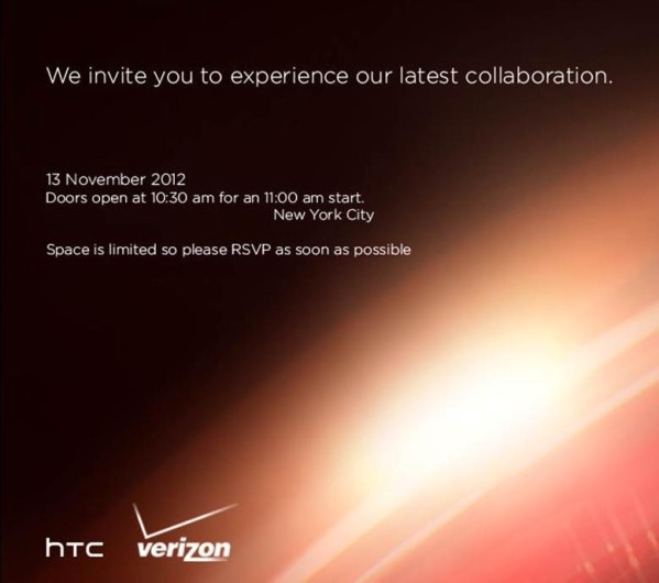 HTC Verizon invite