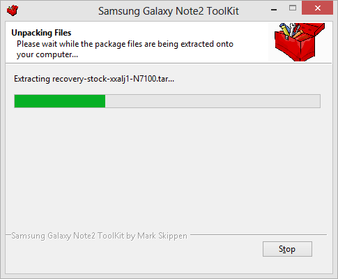 Samsung Galaxy Note2 Toolkit Installing
