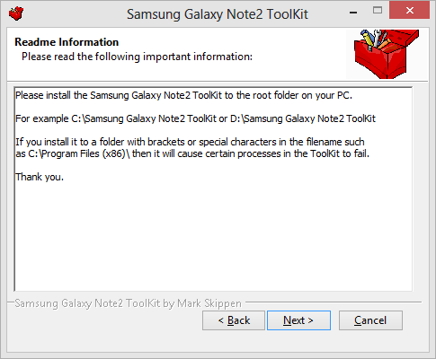 Samsung Galaxy Note2 Toolkit info