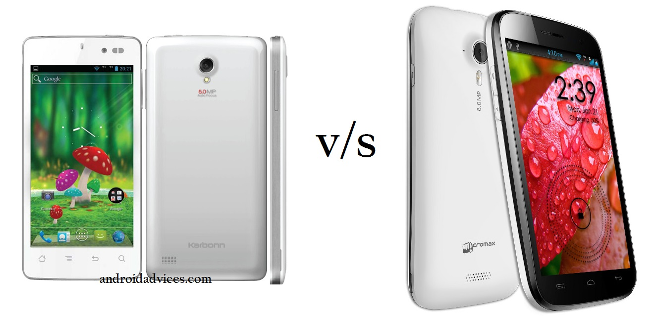 Micromax Canvas HD A116 vs Karbonn Smart Titanium 1