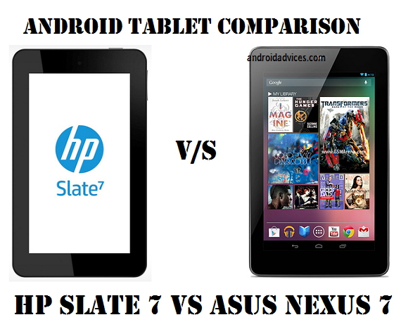 HP Slate 7 vs Asus Nexus 7