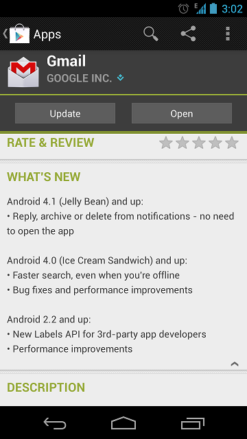 Gmail App Android Update