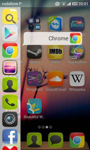 install ubuntu phone style launcher app on android with sidebar. Black Bedroom Furniture Sets. Home Design Ideas