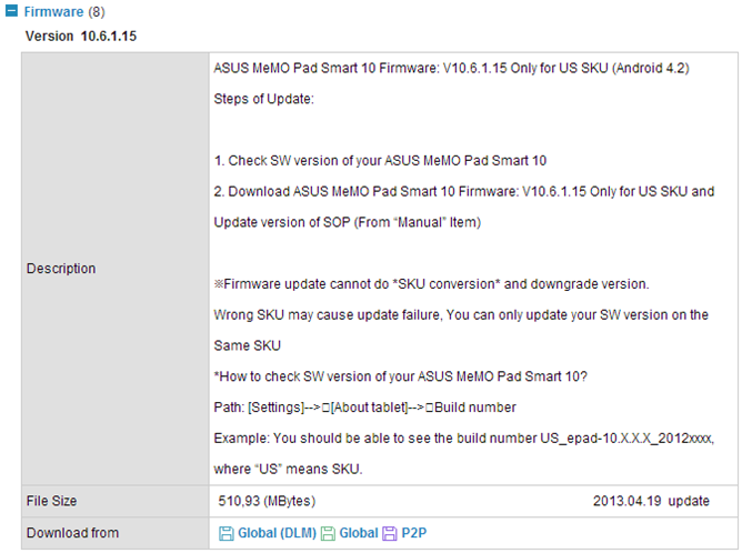 Manual Update ASUS Memo Pad Smart 10 with Official Jellybean