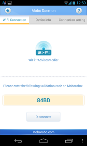 Moborobo Phone App Validation