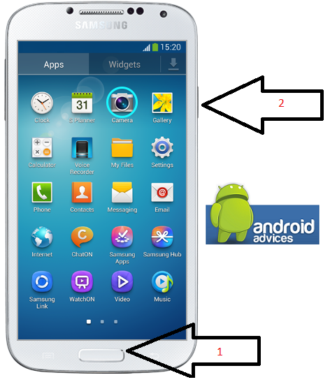 how to take a screen shot on samsung s4