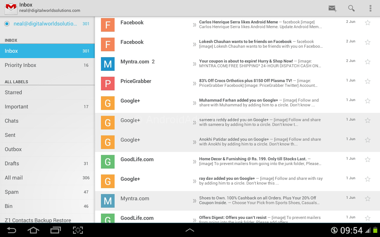 Download New Gmail 4.7 APK with Vacation Responder, Send Review ...