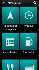 HTC One Car Mode Navigation Feature