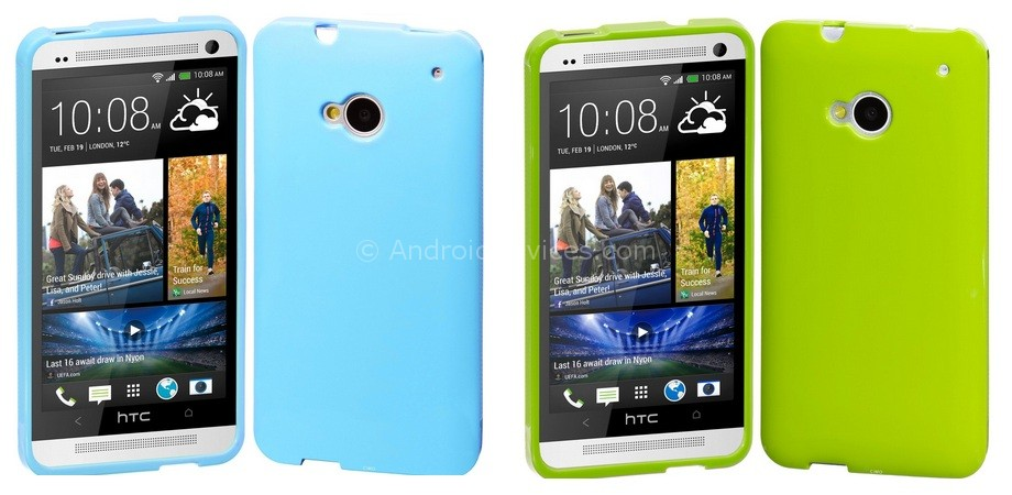 HTC One Cimo Grip Back Case Flexible TPU Cover