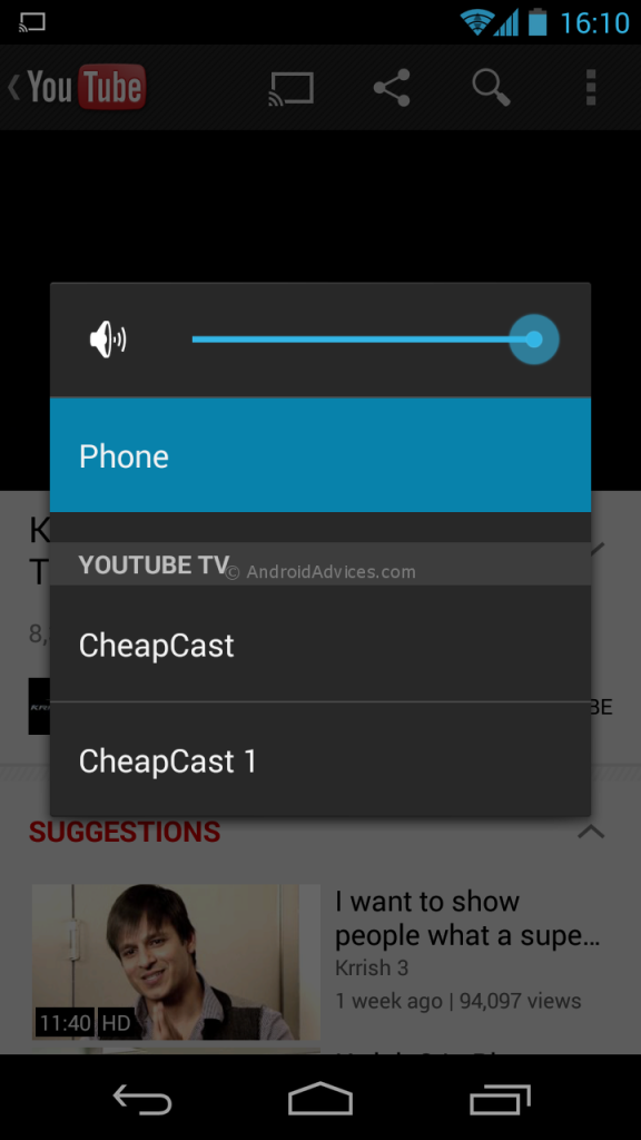CheapCast select device