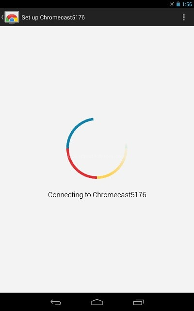 Connecting to ChromeCast 3